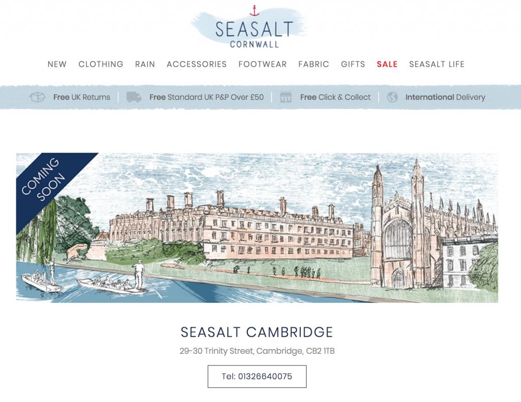 Seasalt Cambridge – opening soon!!!